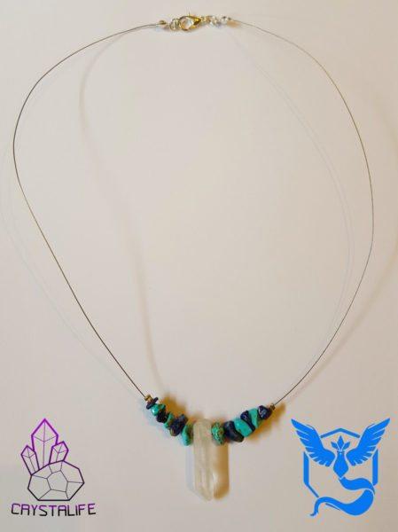 20160728 100346 449x600 - Pokemon Go Team Mystic - Handmade Crystal Necklace/Pendant - Turquoise/Lapis