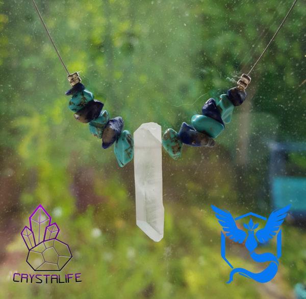 20160728 100628 600x587 - Pokemon Go Team Mystic - Handmade Crystal Necklace/Pendant - Turquoise/Lapis