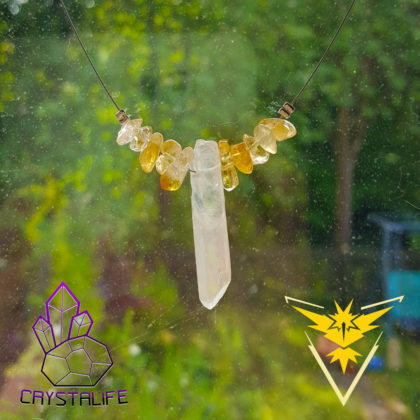 20160728 101009 420x420 - Pokemon Go Team Instinct - Handmade Crystal Necklace/Pendant - Citrine