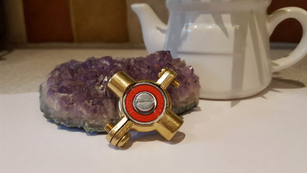 20161025 110627 600x338 - Brass Fidget Spinner Toy - EDC, ADHD, Concentration