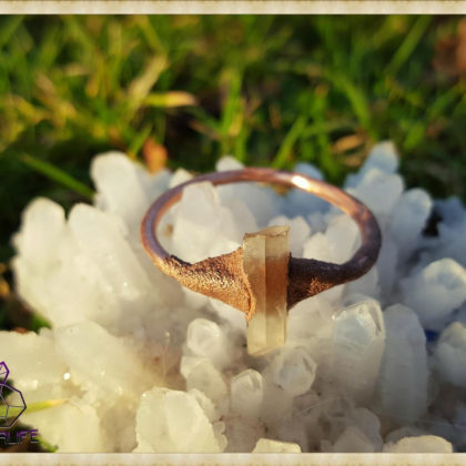 Electroformed, Quartz + Copper Statement Ring - Handmade Gemstone Jewellery - Healing - Meditation - Yoga - Holistic - Natural - Crystals