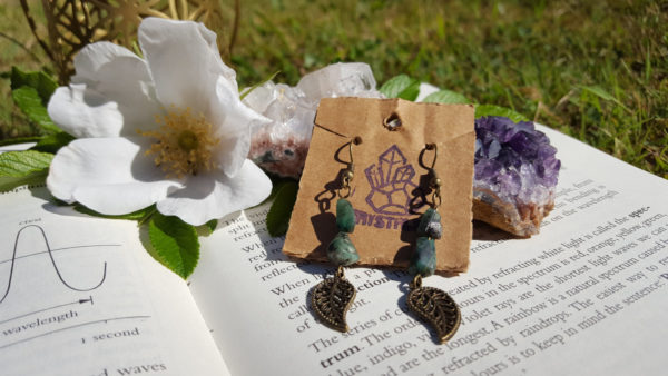 Emerald Gemstone, Handmade Earrings,  | Healing | Meditation | Yoga | New Age | Metaphysical | Reiki | Gemstone Jewellery | Gift | Nature |