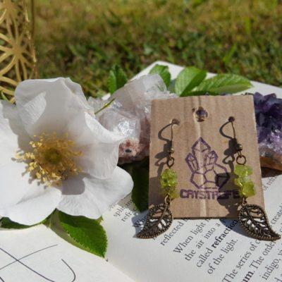 Peridot Gemstone Handmade Earrings,  | Healing | Meditation | Yoga | New Age | Metaphysical | Reiki | Gemstone Jewellery | Gift | Natural |