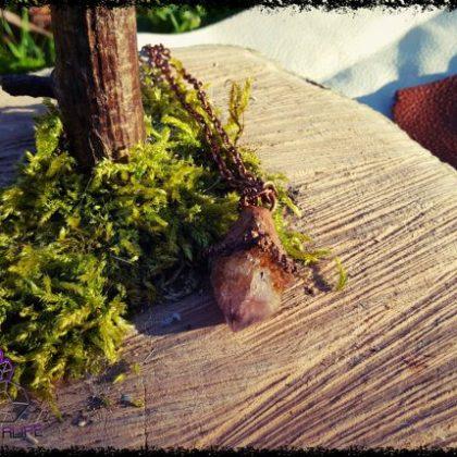 Citrine + Amethyst, Cactus Quartz Copper Pendant 2
