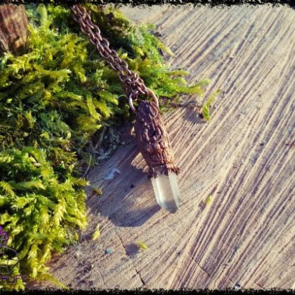 Clear Quartz Copper Pendant 3