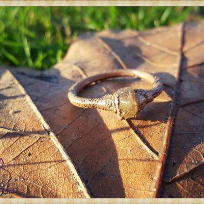 Electroformed, Citrine + Copper Statement Ring