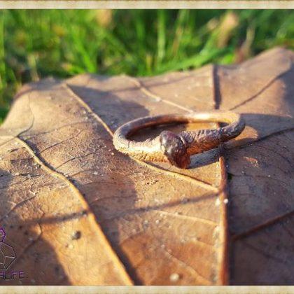 Electroformed, Garnet + Copper Statement Ring 1