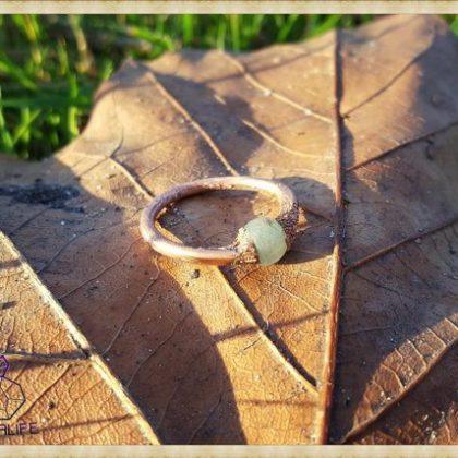 Electroformed, Jade + Copper Statement Ring 2