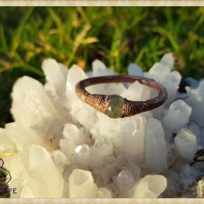 Electroformed, Jade + Copper Statement Ring
