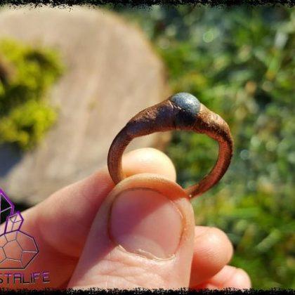 Electroformed, Lapis Lazuli + Copper  Ring