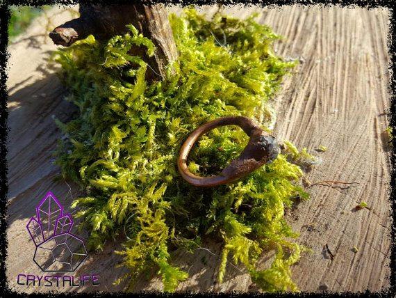 Electroformed, Raw Tanzanite + Copper Ring