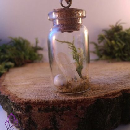 Quartz Crystal Miniature Vial Pendant, Ocean Style.  | Healing | Meditation | Yoga | New Age | Gemstone Jewellery | Gift | Nature|
