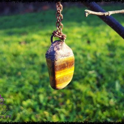 Tigers Eye, Copper Pendant
