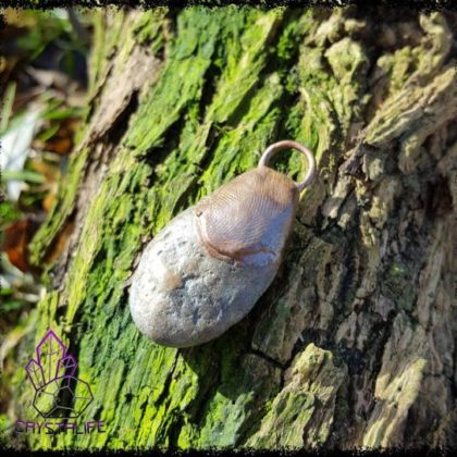 Beach Pebble, Crystal Pendant