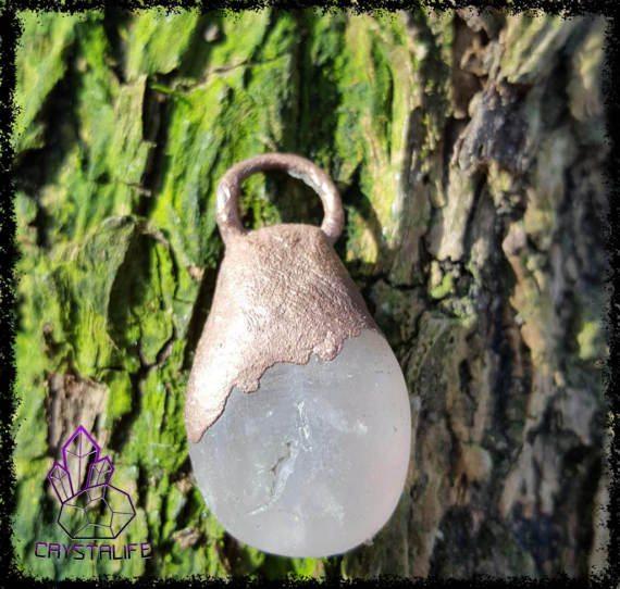 Rose Quartz, Crystal Pendant