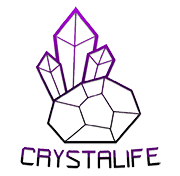 Crystalife Colour Watermark180 - AMETHYST SPIRIT QUARTZ + Tourmaline Crystal Pendant