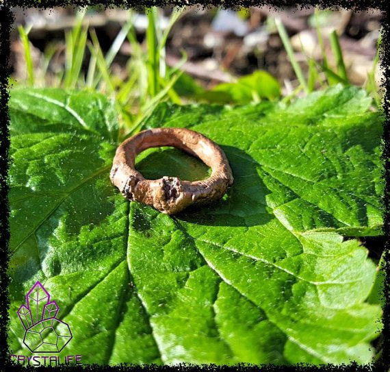 Genuine Ruby + Copper Ring   Electroformed   Handmade