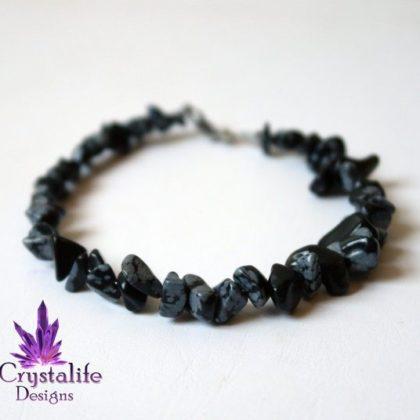 Snowflake Obsidian Protection Bracelet