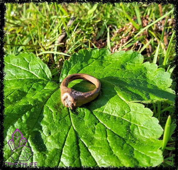 Tanzanite and Copper Ring | Electroformed | Handmade