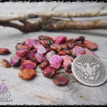 Rough Ruby Crystals and gemstones for jewellery making, jewelry supplies, crystal healing and crystal grids