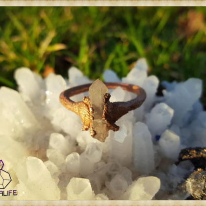 electroformed quartz copper statement ring 6 handmade gemstone jewellery 5a21b55c 420x420 - Electroformed, Quartz + Copper Statement Ring 6 - Handmade Gemstone Jewellery - Healing - Meditation - Yoga - Holistic - Natural - Crystals