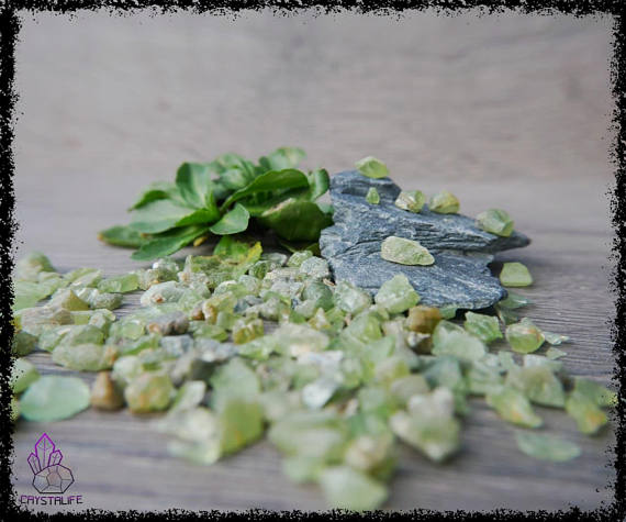 Rough Green Peridot for Jewellery making, handmade jewellery and crystal healing