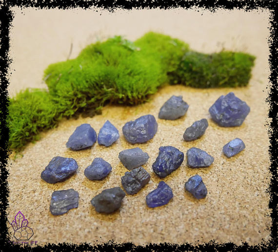 natural raw rough tanzanite crystal gemstone 100 carat crystal healing metaphysical jewellery making zodiac yoga meditation 5a21b1bc - Moldavite Crystals - Intense, Intergalactic Infinity Stone.