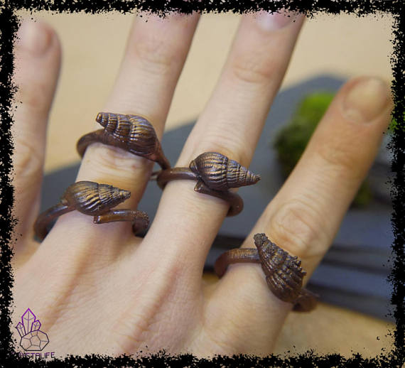 sea shell copper ring 5a21b2e2 - Sea Shell Copper Ring