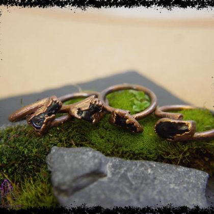TIBETAN MOLDAVITE TEKTITE Ring