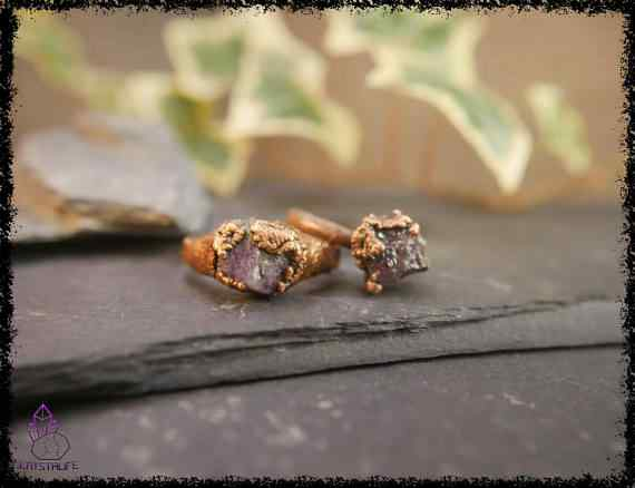 raw amethyst gemstone ring 5a5d2947 - Raw Amethyst Gemstone Ring - Copper Electroformed