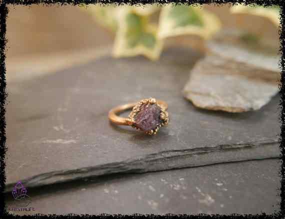 raw amethyst gemstone ring 5a5d295f - Raw Amethyst Gemstone Ring - Copper Electroformed
