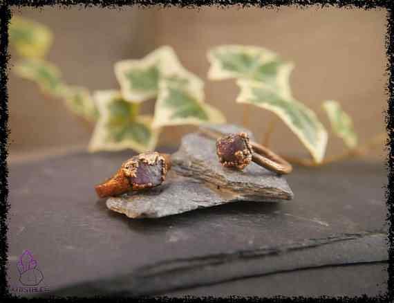 raw amethyst gemstone ring 5a5d2976 - Raw Amethyst Gemstone Ring - Copper Electroformed