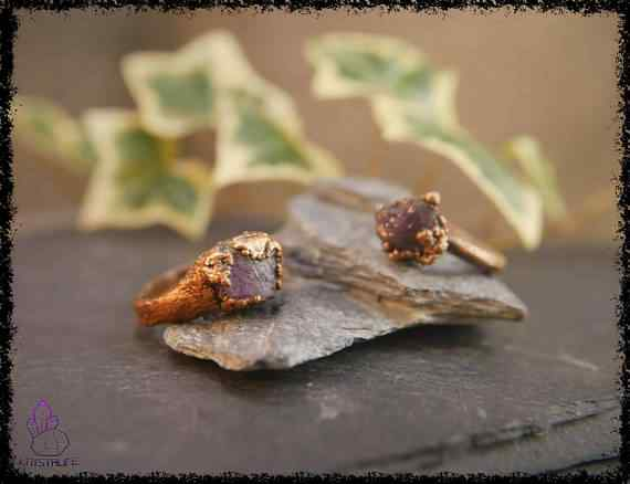 raw amethyst gemstone ring 5a5d2999 - Raw Amethyst Gemstone Ring - Copper Electroformed