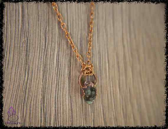 raw emerald gemstone pendant 5a5d270b - Raw Emerald Gemstone - Copper Electroformed Pendant