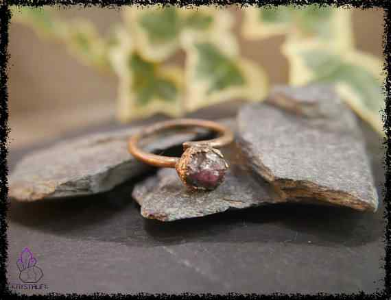 raw ruby gemstone ring 5a5d2a3e - Raw Ruby Gemstone Ring - Copper Electroformed