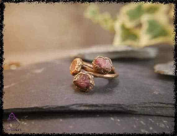 raw ruby gemstone ring 5a5d2a4b - Raw Ruby Gemstone Ring - Copper Electroformed