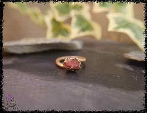 raw ruby gemstone ring 5a5d2a5a - Raw Ruby Gemstone Ring - Copper Electroformed