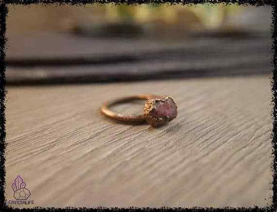 raw ruby gemstone ring 5a5d2a70 - Raw Ruby Gemstone Ring - Copper Electroformed