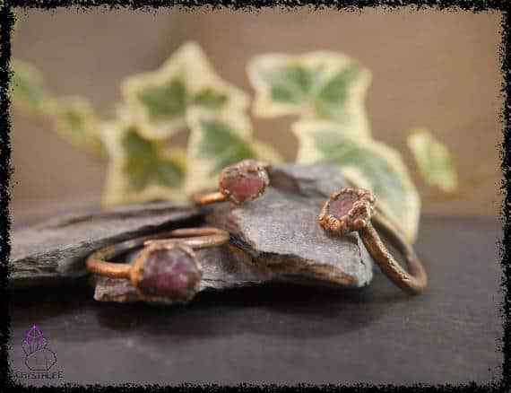 raw ruby gemstone ring 5a5d2a7c - Raw Ruby Gemstone Ring - Copper Electroformed