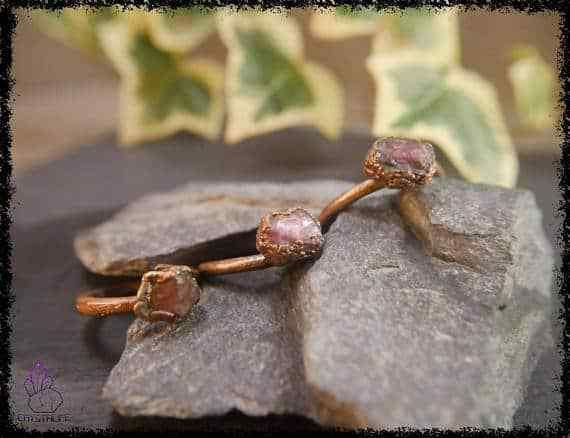 raw ruby gemstone ring 5a5d2a93 - Raw Ruby Gemstone Ring - Copper Electroformed