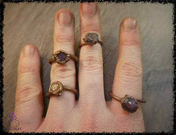 raw ruby gemstone ring 5a5d2a9f - Raw Ruby Gemstone Ring - Copper Electroformed