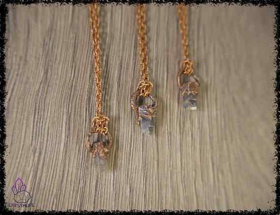 raw sapphire gemstone pendant 5a5d27d4 - Raw Sapphire Gemstone - Copper Electroformed Pendant