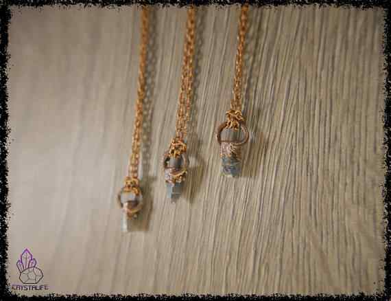 raw sapphire gemstone pendant 5a5d27f9 - Raw Sapphire Gemstone - Copper Electroformed Pendant