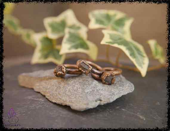 raw sapphire gemstone ring 5a5d28cf - Raw Sapphire Gemstone Ring - Copper Electroformed