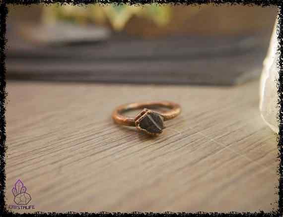 raw sapphire gemstone ring 5a5d28da - Raw Sapphire Gemstone Ring - Copper Electroformed