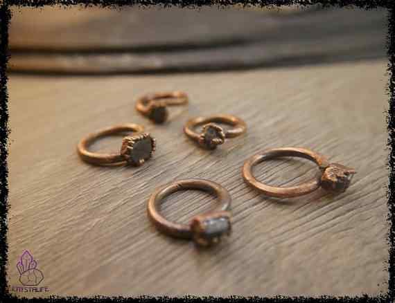raw sapphire gemstone ring 5a5d28f9 - Raw Sapphire Gemstone Ring - Copper Electroformed