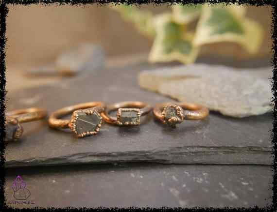 raw sapphire gemstone ring 5a5d2905 - Raw Sapphire Gemstone Ring - Copper Electroformed