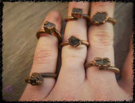 raw sapphire gemstone ring 5a5d291b - Raw Sapphire Gemstone Ring - Copper Electroformed