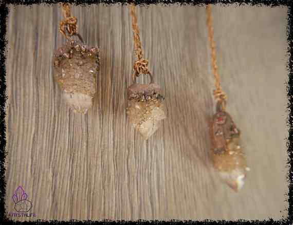 spirit quartz crystal pendant 5a5d275c - Citrine Spirit Quartz Crystal - Copper Electroformed Pendant
