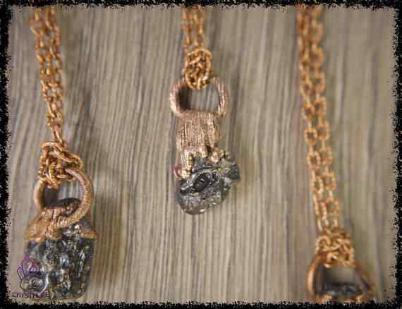 tibetan moldavite tektite pendant 5a5d286b - Tibetan Moldavite Tektite - Copper Electroformed Pendant